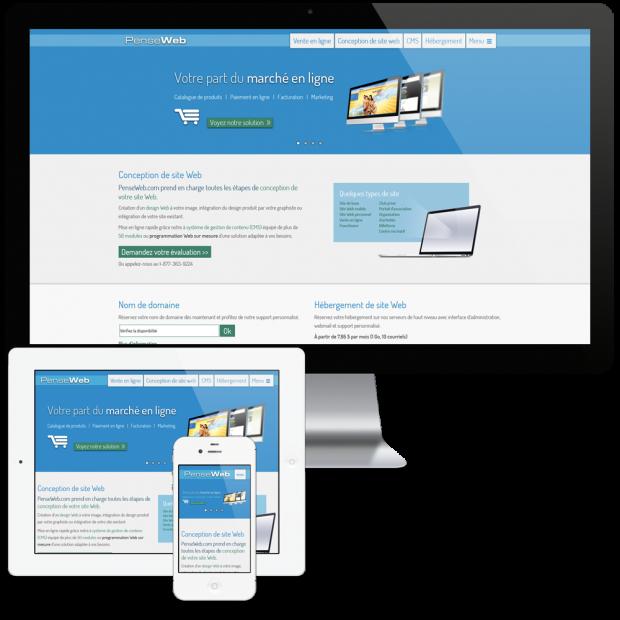 Un site Web responsive pour PenseWeb.com