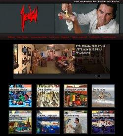Un nouveau design de site Web pour l'artiste peintre Mario Beaudoin